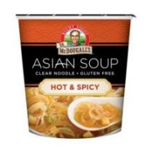 Hot and Spicy Clear Noodle Asian Soup