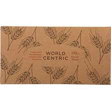 Unbleached 2 Ply Wheat Straw Facial Tissue