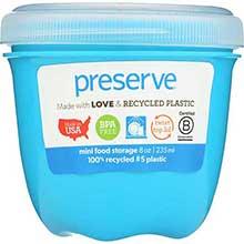 Aquamarine Mini Round Food Storage Container