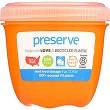 Orange Mini Round Food Storage Container