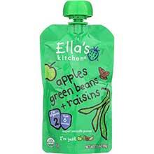 Organic Apples Green Beans Plus Raisins Baby Food