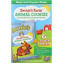 Bernies Farm Animal Cookies Snack Pack