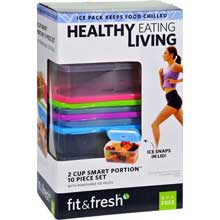 2 Cup Size Smart Portion Healthy Living 10 Piece Containers Set