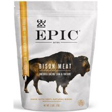 Bison and Bacon Chia Raisins Jerky Bites