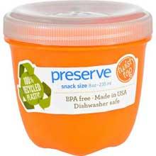 Round Mini Orange Food Storage Container