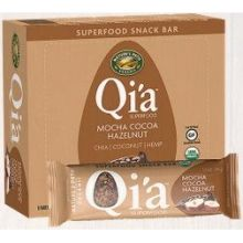 Qia Organic Mocha Cocoa Hazelnut Superfood Snack Bar