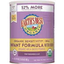 Organic Sensitivity Infant Formula with Iron