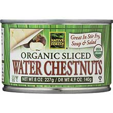 Organic Sliced Water Chestnuts