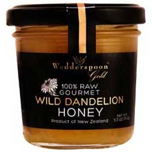 Gold 100 Percent Raw Wild Dandelion Honey
