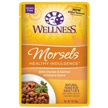 Healthy Indulgence Morsels Chicken and Salmon Adult Cat Food