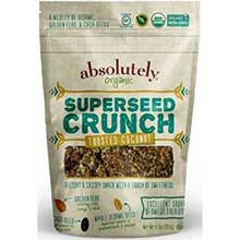 Gluten Free Organic Toasted Coconut Superseed Crunch Snacks