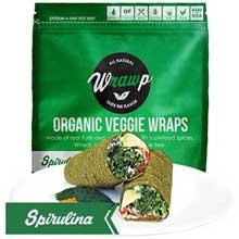 Organic Spirulina Veggie Wrap