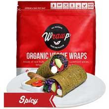 Organic Spicy Veggie Wrap
