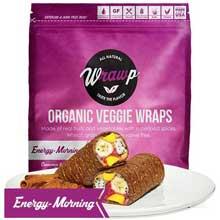 Organic Energizing Morning Veggie Wrap