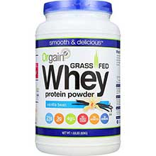 Vanilla Bean Grass Fed Whey Protein Powder