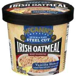 Vanilla Honey Instant Irish Oatmeal Cup