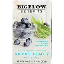Benefits Radiate Beauty Blueberry and Aloe Herbal Tea