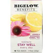 Benefits Stay Well Lemon and Echinacea Herbal Tea