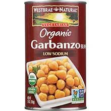 Westbrae Foods Organic Garbanzo Beans 25 Ounce