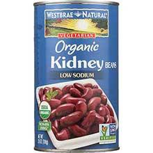Westbrae Foods Organic Kidney Beans 25 Ounce