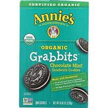 Organic Grabbits Chocolate Mint Sandwich Cookie