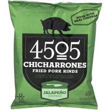 Jalapeno Cheddar Fried Pork Rinds Chicharrones