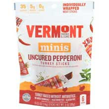 Uncured Pepperoni 0.5 Ounce Turkey Sticks