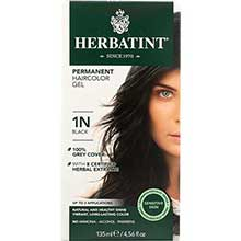 Herbatint 1N Permanent Herbal Black Haircolor Gel Kit