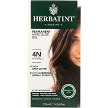 Herbatint 4N Permanent Herbal Light Chestnut Haircolor Gel Kit
