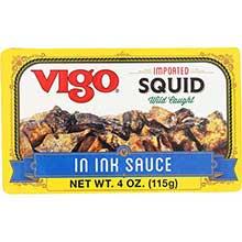 Squid in Ink Sauce Calamare