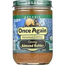Once Again Nut Butter Organic Smooth Almond Butter 16 Ounce