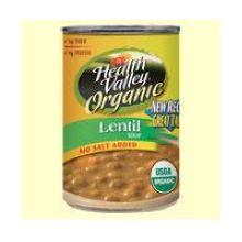 No Salt Added Organic Soup