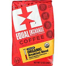 Equal Exchange Organic Whole Bean Breakfast Blend Coffee 12 Ounce