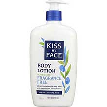 Kiss My Face Natural Olive and Aloe Body Moisturizer Fragrance Free 16 Ounce