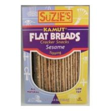 Suzies Kamut Sesame Flat Bread 4.5 Ounce