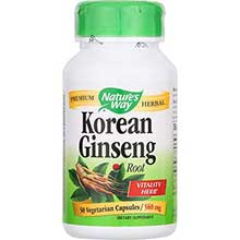 Natures Way Korean White Ginseng Root Capsule 560 Mg