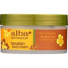 Alba Botanica Kukui Nut Body Cream 6.5 Ounce