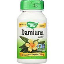 Natures Way Damiana Leaf Capsule 400 Mg
