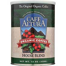 Cafe Altura Organic House Blend Ground Coffee 12 Ounce