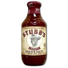 Stubbs Spicy Bar-B-Q Sauce - 18 Oz Pack