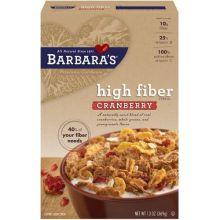 High Fiber Cranberry Cereal