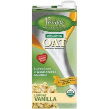Pacific Foods Organic Naturally Vanilla Oat Beverage 32 Ounce