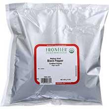 Frontier Herb Organic Black Medium Grind Pepper 16 Ounce