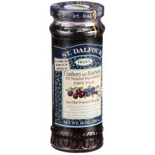 St Dalfour 100 Percent Fruit Cranberry with Blueberry Conserve 10 Ounce