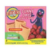 Earths Best Organic Sesame Street Sunny Days Snack Bar - Strawberry 5.3 Ounce