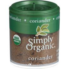 Simply Organic Mini Ground Coriander Seed Spice 0.35 Ounce