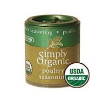 Simply Organic Mini Poultry Seasoning Blend Spice 0.32 Ounce