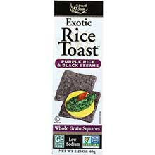 Edward And Sons Purple Rice and Black Sesame Toast Cracker 2.25 Ounce