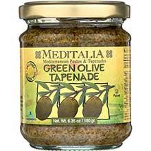 Meditalia Tapenade Green Olive Spread 6.35 Ounce