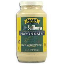 Hain Pure Foods Lite Safflower Mayonnaise 24 Ounce